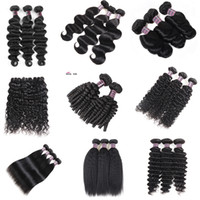 "8- 28"" Deep Loose Brazilian Body Wave Hair Extensions Un..."