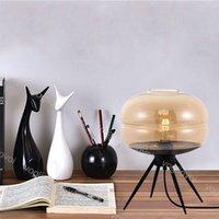 Lampes de table UFO Europe E27 Métal Métal Grey Gris Couleur Shades De Bureau Decor pour chambre DHL