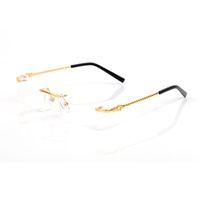 واضح النظارات بدون شفة إطارات mennew أزياء الرجال النظارات البصرية نظارات بدون شفة الذهب المعادن بوفالو القرن النظارات واضحة عدسات شمسية