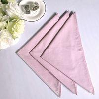 Свадебные розовый стол NapkinCotton салфетка хлопок платок ткани для закусочной Xmas партия свадьба поставок сувениры 45*45см