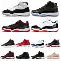 NOUVEAU 11 11S Mens Basketball Chaussures Concord 45 Cap et légende Légende Bleu Space Jam xi Femmes Sports Sneakers Chaussures
