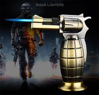 Grenade shape Windproof Butane Gas lighter metal Cigar Cigar...