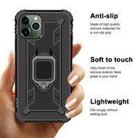 360 anel titular Casos TPU Magnetic Cell Phone Para Iphone 12 Samsung Galaxy Note 20 A21 LG K51 Caso Fiber Stylo 6 Carbono