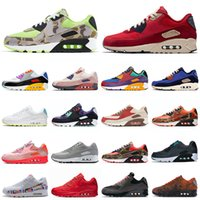 nike air max 90 airmax classic 90 hommes femmes chaussures de course des années 90 invaincu Lahar Escape Green Camo Total Orange Obsidian Bred Volt baskets de sport pour hommes