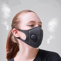 Black Anti Dust Mask PM2. 5 Breathing Filter Valve Face Mouth...