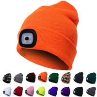 Unisex LED Beanie Hat With Battery Women Men Camping Running...