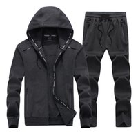 2019 NEW Fashion Spring Autumn Men Sporting Suit Set Hooded ...
