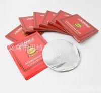 Round papier feuille d'aluminium pour Al Fakher Narguilé Papiers Shisha 0.02mm 12cm Tinfoil fumeurs Accessoires 50pcs / Ensembles Vente Hot 3sya E1