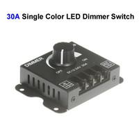 30A 360W LED 단일 색상 조광기 스위치 DC 12V 24V 5050 5630 5730 3014 4014 2835 8520 LED 스트립 라이트