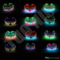 Led Party Glasses EL Wire Fluorescent Flash Glass With Windo...