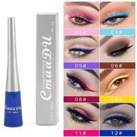 Cmaadu Sıvı Mat Eyeliner 17 Renkler Su Geçirmez Mat Göz Kozmetik Gölge Eyeliner Seksi Kırmızı Beyaz Mavi Büyüleyici Göz Kalemi