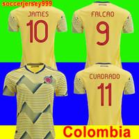df983a14c Colombia 2019 soccer jersey copa america colombia football shirt 19 20  JAMES Rodriguez Camiseta de futbol FALCAO CUADRADO uniforms