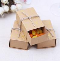 Kraftpapier Pralinenschachtel Vintage Reise Thema Pralinenschachtel Ahornblatt Geschenkboxen Hochzeit Gefälligkeiten Dekoration