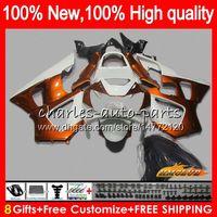 Bodys para Orange HONDA CBR900RR CBR929 CBR900 RR 900RR 2000 2001 76NO.59 CBR 929RR 900 929 RR CC 900cc 929CC CBR929RR blanco 00 01 carenados