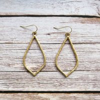 Fashion Chic Trendy KS Design Drop Earrings Frosting Gold Pl...