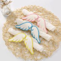 Baby Angel Wings Toalla de sudor 6 capas Baberos de gasa de algodón Baberos de tela para bebés Baberos Paños de eructo GGA2451