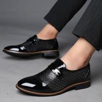 남성 패션 PU 플러스 크기 새로운 검은 갈색 캐주얼 신발은 39-48 남성 디자이너 신발 뒤꿈치 남자 sheos 드레스 FALT