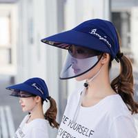 Femmes Hommes Cap Protection solaire extérieure double couche Chapeau de soleil d'été Femmes Ant- UV Hat Riding Homme Femme