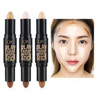 QIC النساء تمييز الوجه المخفي عصا يرسم Bronzers فسفورية القلم مستحضرات التجميل 3D ماكياج مصحح محيط عصا