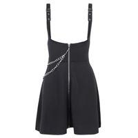 Spódnice Black Surfidder Kombinezony Streetwear Kobiety Mini Plised Kobiet Moda Kobiet Wysoka Talia Slim Gothic Punk Spódnica