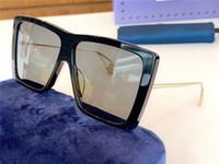 Модные солнцезащитные очки популярные классические квадратные большие рамы высокого качества простой и элегантный стиль защиты 0434 оптовые очки с футляром