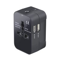World Wide 100-250V 6A Adaptador universal de viaje US / EU / UK / AU Cargador de enchufe múltiple con puertos USB 2 duales