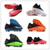 جديد فانتوم VSN الرؤية II النخبة DF FG 2 2S رجل الأبيض وردي أخضر سترايك السامية الكاحل لكرة القدم المرابط أحذية كرة القدم الحجم US6.5-11