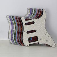 1 세트 11의 구멍 일렉트릭 기타 픽가드 SSH HSS 기타 스크래치 플레이트 나사 맞춤 스트랫 기타 부품, 15 개 색상 선택