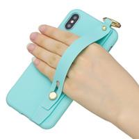 Браслет ремешок мягкий чехол TPU для iPhone 11 XR XS MAX X 7 8 6 SE 5S мода роскошь Push Wrist Grip Strip держатель крышка телефона кожа Coque