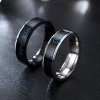 Temperaturstimmung Ring ihr König Sein Königreich Ring Edelstahl Paar Ringe Engagement Ehering Modeschmuck Will und Sandy Geschenk