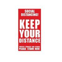 Mantenga su sesión Distancia Etiqueta Social distanciamiento Planta Planta Decal Seguridad señalización en el suelo adhesivo pegatina para la Escuela del restaurante