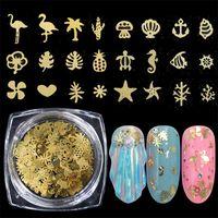 Laser flamanto / étoile / fleur métal ongles paillettes paillettes 3D mixtes ongles holographiques paillettes flocons de manucure ongles décoration truc paillettes
