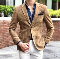 Herrenanzüge Blazer Jinxuanya Männer Anzug Blazer Revers Wolle Tweed Prom Kleiderjacke Custom gemacht Homme Herren Größe (Blazer)