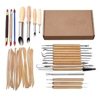 31Pcs 예술 공예 클레이 조형 도구는 도구 키트 도자기 도자기를 나무 손잡이 모델링 클레이 도구 조각 세트