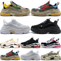 2020 جديد موضة باريس 17fw ثلاثية حذاء رياضة الثلاثي جاري أبي أحذية للرجال المرأة البيج الأسود ceahp الرياضة مصمم أحذية رياضية 36-45