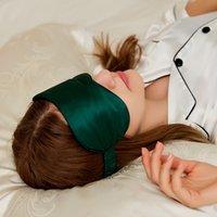 Silk máscara do sono 100% personalizado amoreira seda bordados logotipo impresso máscara de dormir olho