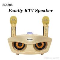لاسلكي جديد صوت مبدل ميكروفون المتحدث في الهواء الطلق المحمولة البومة الهاتف بلوتوث كاريوكي الأسرة KTV DHL