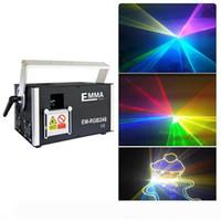 Professinal 3 Watt 3000mW SD RGB Laser Show luci DMX512 ILDA Con Software ishow nella scheda SD