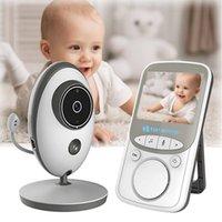 Sıcak kablosuz bebek monitörü Video babyphone kamera 2.4 inç LCD kızılötesi gece görüş 2 yönlü konuşma sıcaklık sensörü ninniler çoklu dil