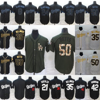 Hombre Los Angeles 8 24 Black Mamba Jersey 35 Cody Bellinger 50 Mookie Betts 21 Walker Buehler 42 Jackie Robinson Costadas Jerseys de béisbol
