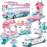 مدينة الزفاف حزب فتاة سيارة أصدقاء رومانسية فستان الزفاف نموذج اللبنات الطوب الأميرة الأمير لعبة الأطفال هدية