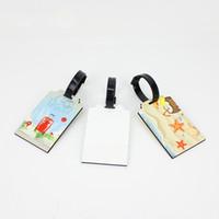 Étiquettes à bagages vierges de haute qualité au détail de sublimation Sacs Accessoires Accessoires Nouveauté mignonne MDF Bois Étiquette de bagage Funky Travel Valise