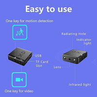 XD IR-CUT البسيطة كاميرات أصغر كامل 1080p HD كاميرات الأشعة تحت الحمراء للرؤية الليلية مايكرو كاميرا كشف الحركة DV