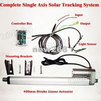 Полный комплект Freeshipping: Солнечная система слежения за одной осью, DC 12V, 450 мм / 18-дюймовый линейный привод Электронный контроллер - трекер солнечного света