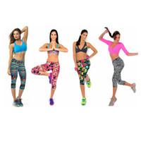 Mujeres trajes de yoga floral estampado deportes leggings damas yoga pantalones deporte gimnasio corriendo flaco entrenamiento legging lápiz pantalones gga2694