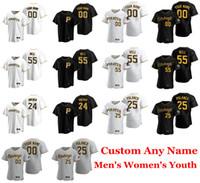 Mens-Baseball-Shirts Josh Bell Jersey Chris Archer Gregory Polanco Adam Frazier Chris Stratton Steven Brault J.T. Brubaker Benutzerdefinierte genähtes