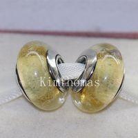 Fai da te perline a mano murano argento 925 Fluorescence Vetro Di Murano Perle Charm Fits monili europei Pandora Bracciali-D01