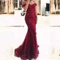 Vacker sjöjungfru smal formell kvällsklänning vin röd temperament elegant cocktail klänning damer bankett stilig klänning