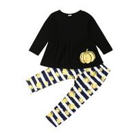 1-4T Halloween Costume pour enfants Bébés filles manches longues Tenues Automne 2 pcs Cute Kids Cartoon Vêtements Set