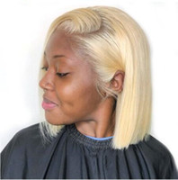 13x4 Blonde Dentelle avant Perruque Brésilienne 613 courte Bob Dentelle Perruques de cheveux humains pour femmes noires Perruque transparente en dentelle transparente